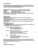 Psychomotor School Letter