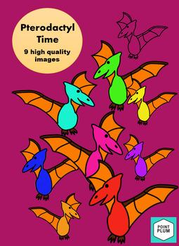 Pterodactyl Time- Clip Art
