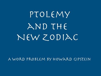 Ptolemy and the New Zodiac