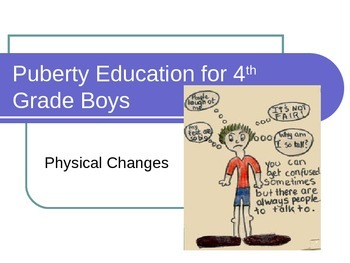 PowerPoint: Puberty Education For 4th Grade Boys
