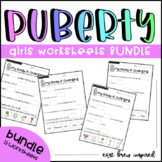 Puberty: My body is changing Girls worksheet bundle