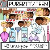 Puberty + Teen Clip Art