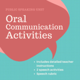 Public Communication / Oral Communication Activities and Speech Rubric