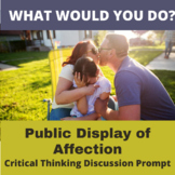 Critical Thinking What Would You Do Activity: Public Displ