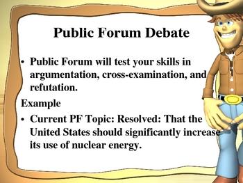 Public Forum Debate