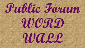 Public Forum Debate Word Wall- Burlap Template