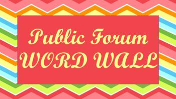 Public Forum Debate Word Wall- Chevron Template