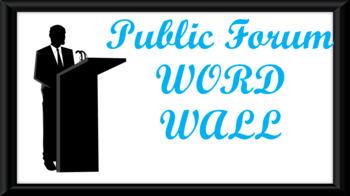 Public Forum Debate Word Wall- Podium Template