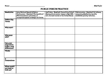 Public Forum Unit Packet
