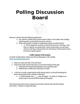 Public Opinion Assignment & Discussion Board