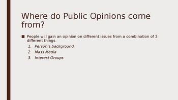 Public Opinions