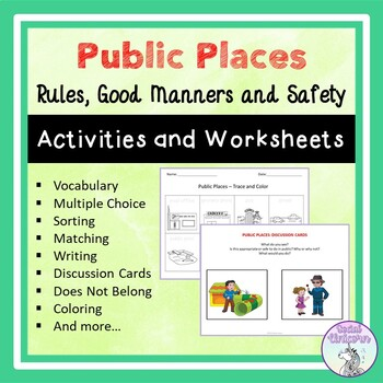 Public Places: Rules and Safety (Activities and Worksheets)