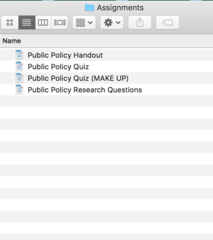 Public Policy (AP Government) Bundle with Video