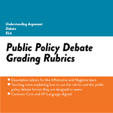 Public Policy Debate Affirmative and Negative Rubric