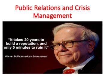 Public Relations and Crisis Management