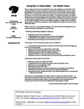 Public Service Announcement Activity