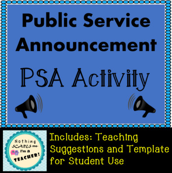 Public service announcement psa printable writing activity by public service announcement psa printable writing activity maxwellsz
