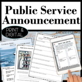 Persuasive Writing Public Service Announcement Activities Digital