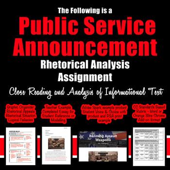 Public Service Announcement Rhetorical Analysis; Close Reading; Analysis