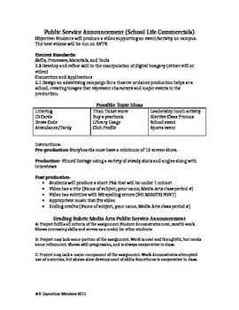 Public Service Announcement (School Life Commercials)
