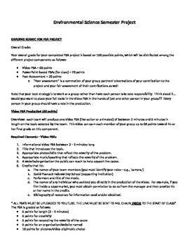 Public Service Announcement Semester Project