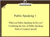 Public Speaking 1 Lesson Plan