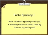 Public Speaking 1 Lesson Plan