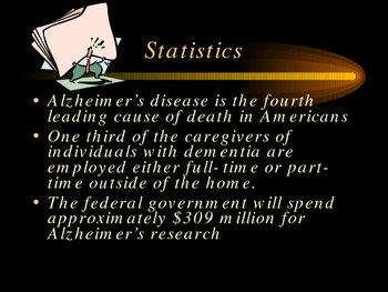 Public Speaking: Alzheimer's Disease:  Power Point Presentation
