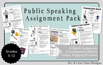 Public Speaking Assignment Pack
