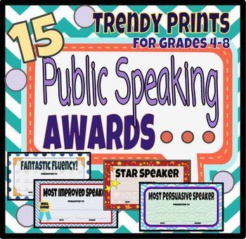 Public Speaking Awards for Grades 4-8