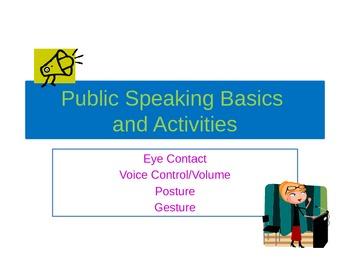 Public Speaking Basics & Activities PPT