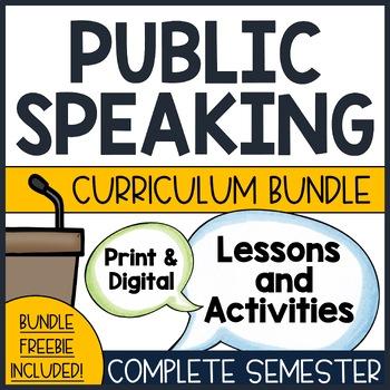 Public Speaking Curriculum Bundle- Complete Unit!
