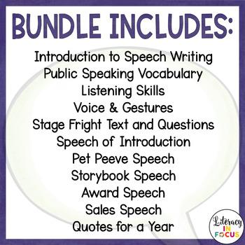 Public Speaking Curriculum Bundle: A Complete Unit!