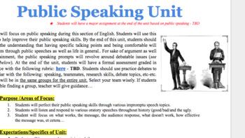 Public Speaking/Debate Mini Unit