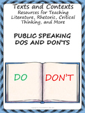 Public Speaking Dos and Don'ts