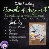Public Speaking -- Elements of Argument: Creating a Commercial + Quiz