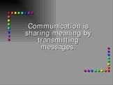 Public Speaking: Elements of Communication: Power point