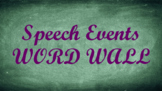 Public Speaking Events Word Wall- Chalkboard Template