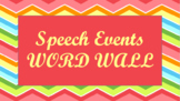 Public Speaking Events Word Wall- Chevron Template