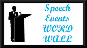 Public Speaking Events Word Wall- Podium Template