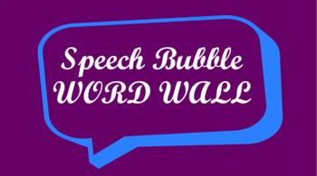 Public Speaking Events Word Wall- Speech Bubble Template
