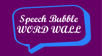 Public Speaking Events Word Wall- Speech Bubble Template