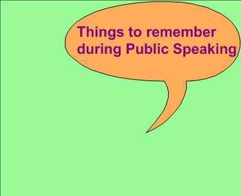 Public Speaking Introduction Lesson