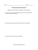 Public Speaking Introductions Quiz with Key