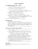 Public Speaking Lesson Plans for Middle School Students