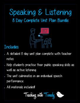 Public Speaking & Listening Mini-Unit