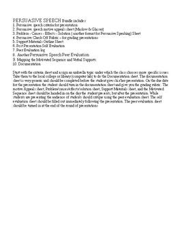 Public Speaking: Persuasive Speech Bundle (10 items)