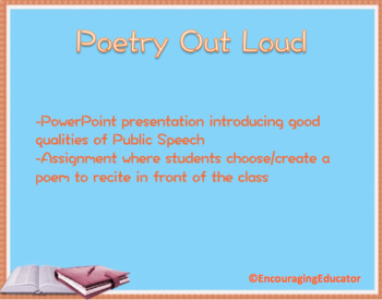 Public Speaking - Poetry Speech