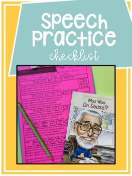 Public Speaking Practice Checklist