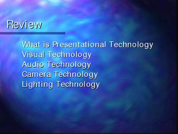 Public Speaking: Presentational technology: Power Point